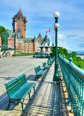 Le Chateau Frontenac 2 Poster by Mel Steinhauer