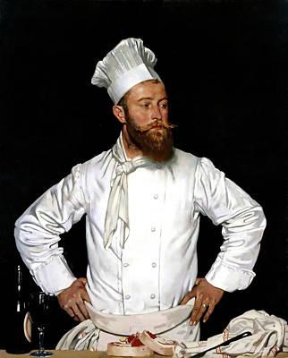 Le Chef De L'hotel Chatham Paris Poster by William Orpen