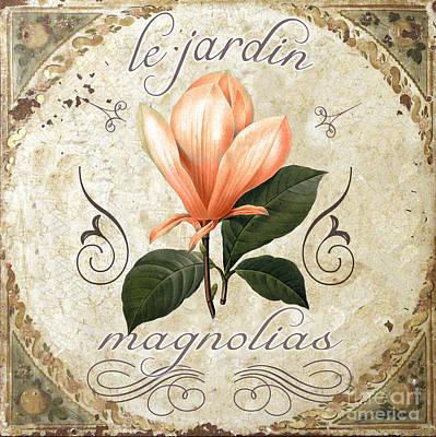 Le Jardin Magnolias Poster