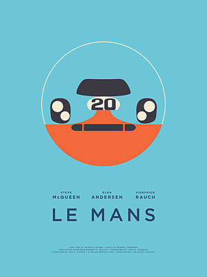 Le Mans Movie - A Poster by Ivan Krpan