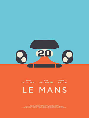 Le Mans Movie - B Poster by Ivan Krpan