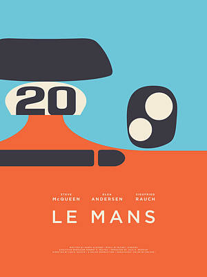 Le Mans Movie - C Poster by Ivan Krpan