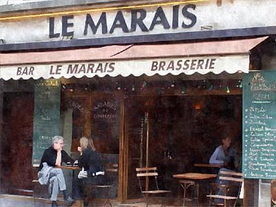 Le Marais Poster by Matthew Bamberg