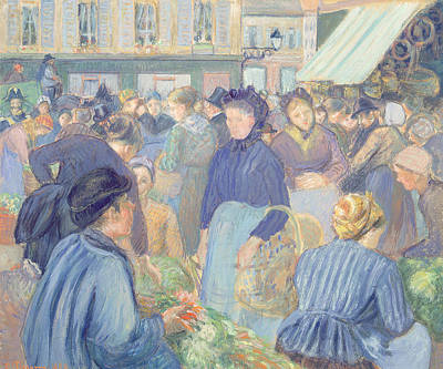 Le Marche De Gisors Poster by Camille Pissarro