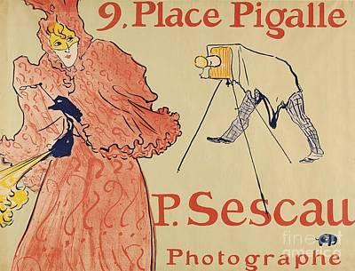 Le Photographe Sescau Poster by MotionAge Designs