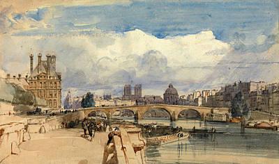 Le Pont Royal. Paris Poster by Thomas Shotter Boys