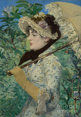 Le Printemps Poster by Edouard Manet