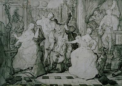 Le Roy Rene Poster by Eugene Delacroix
