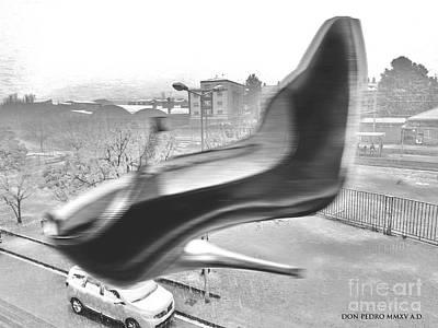 Flying Stiletto Poster