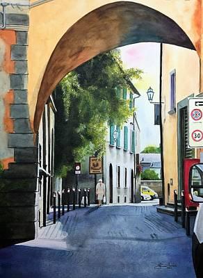 Le Strade Di Orvieto Poster by Janine Ferranti