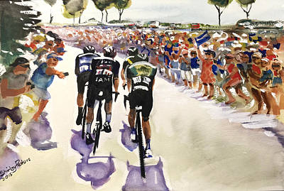 Le Tour Near The Coast Poster by Shirley Peters