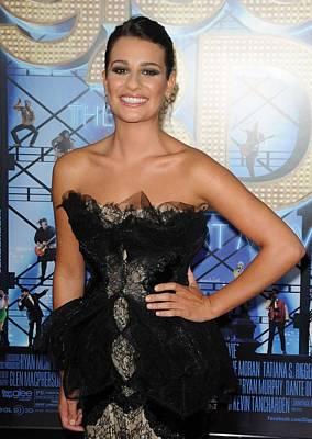 Lea Michele Wearing A Marchesa Dress Poster