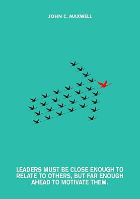 Leaders Motivation John Maxwell Quotes Poster Poster