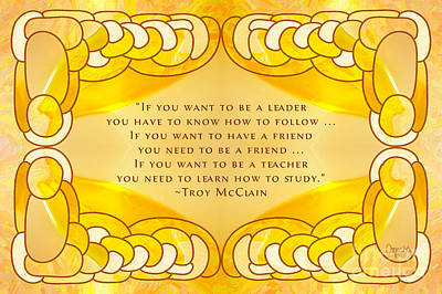 Leadership And Learning Motivational Art By Omashte Poster by Troy McClain