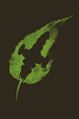 Leaf On The Wind Poster by Vincent Carrozza