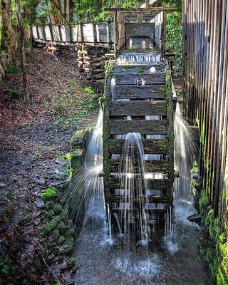 Poster featuring the photograph Leaky Mill Wheel by Alan Raasch