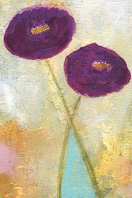 Lean On Me- Art By Linda Woods Poster by Linda Woods