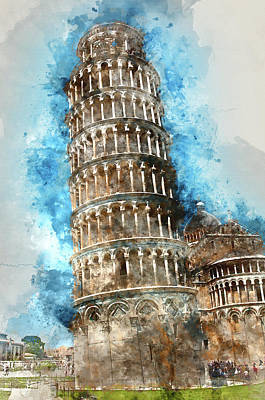 Leaning Tower Of Pisa In Italy Poster by Brandon Bourdages