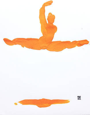 Leap Brush Orange 1 Poster by Shungaboy X