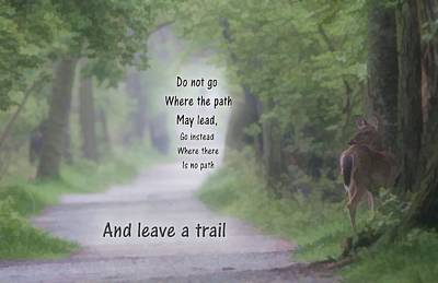 Leave A Trail Poster by Dan Sproul