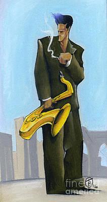 Leavem Smokin Poster by Troy Brown