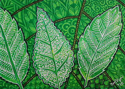 Leaves Of Spring Poster by Michelle Vyn