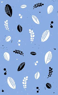 Leaves - Peri B/w Poster