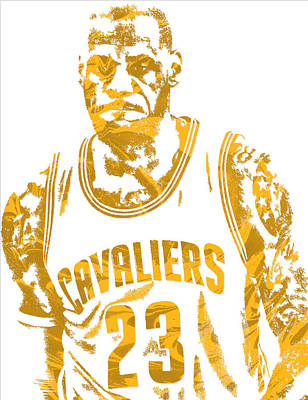 Lebron James Cleveland Cavaliers Pixel Art 10 Poster by Joe Hamilton