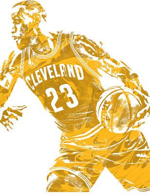 Lebron James Cleveland Cavaliers Pixel Art 20 Poster