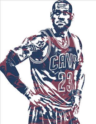 Lebron James Cleveland Cavaliers Pixel Art 25 Poster