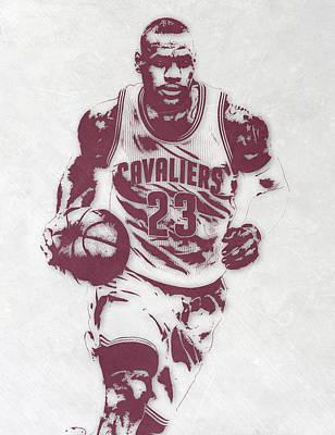 Lebron James Cleveland Cavaliers Pixel Art 4 Poster