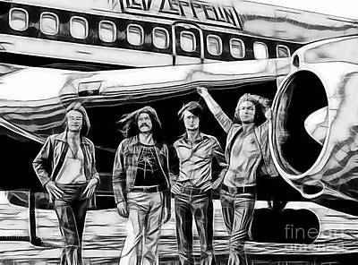 Led Zeppelin Collection. Poster by Marvin Blaine