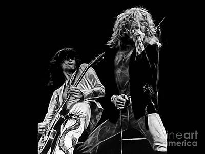 Led Zeppelin Robert Plant Jimmy Page Collection Poster by Marvin Blaine