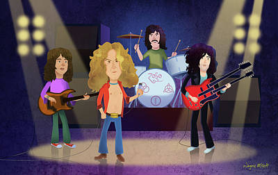 Led Zeppelin Poster by Wayne Millett