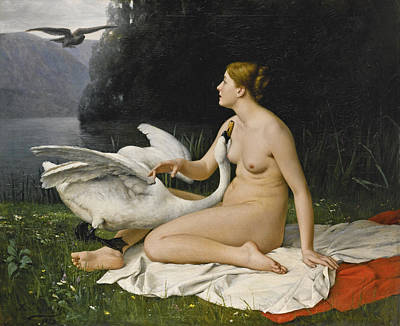Leda And The Swan Poster