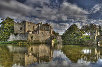 Leeds Castle Reflections Poster
