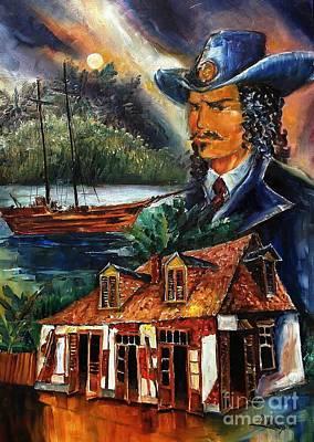 Legend Of Jean Lafitte Poster by Diane Millsap