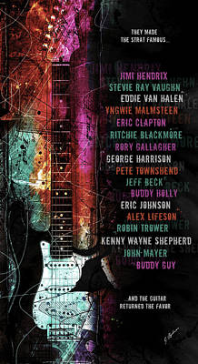 Legends Of The Strat Poster by Gary Bodnar