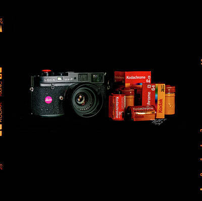Leic Am4p And Summicron 35 Poster by Mikael Jenei