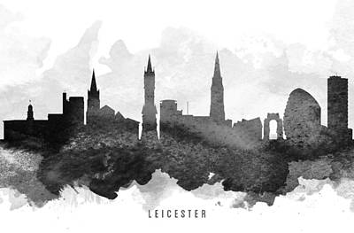 Leicester Cityscape 11 Poster by Aged Pixel