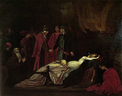 Leighton The Reconciliation Of The Montagues And The Capulets Poster