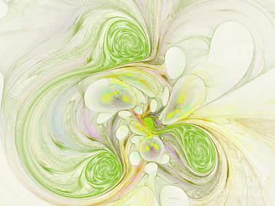 Lemon Lime Curly Poster by Deborah Benoit