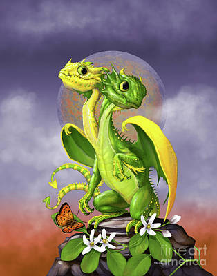 Poster featuring the digital art Lemon Lime Dragon by Stanley Morrison