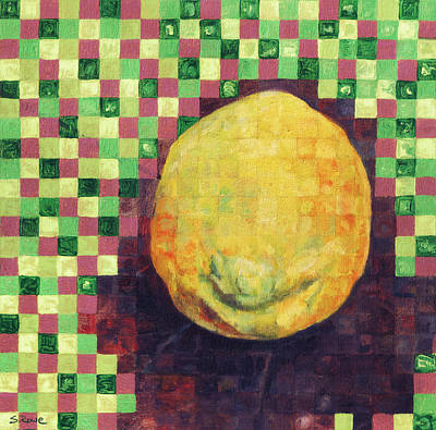 Poster featuring the painting Lemon Squares by Shawna Rowe