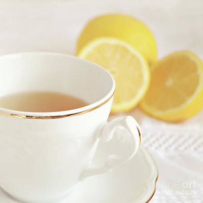 Lemon Tea Poster by Lyn Randle