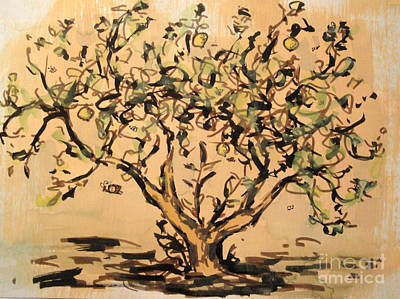 Poster featuring the painting Lemon Tree by Maria Langgle