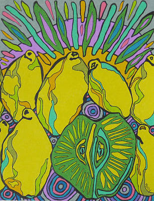 Lemons And A Lime Poster by Molly Williams