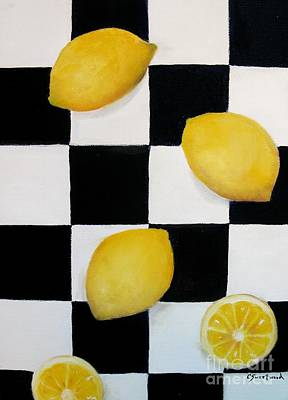 Poster featuring the painting Lemons by Carol Sweetwood