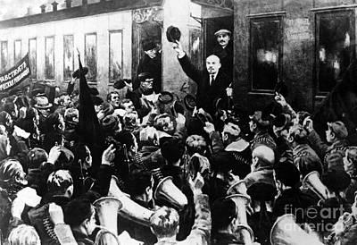 Lenin At Finland Station Poster