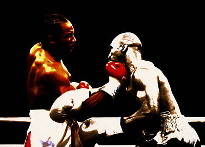 Lennox Lewis And Evander Holyfield 3c Poster by Brian Reaves
